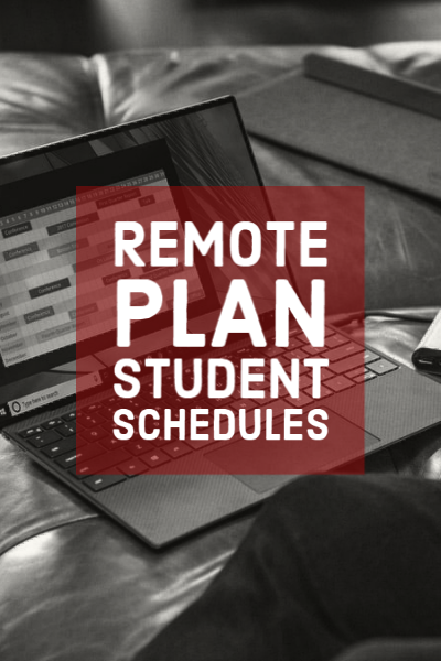 remote learning student schedules