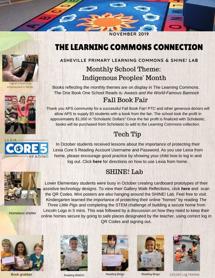 The Learning Commons Connection Newsletter
