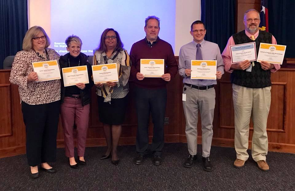 Principals Awarded from North Carolina Department of Public Instruction